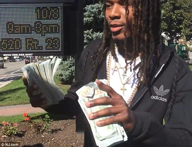 Big Willie style: The rapper said he had brought along a whopping $165,000 in cash