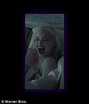Up to no good: As well as Jared Leto's joker it seems like there will also be plenty more Harley Quinn, played by Margot Robbie