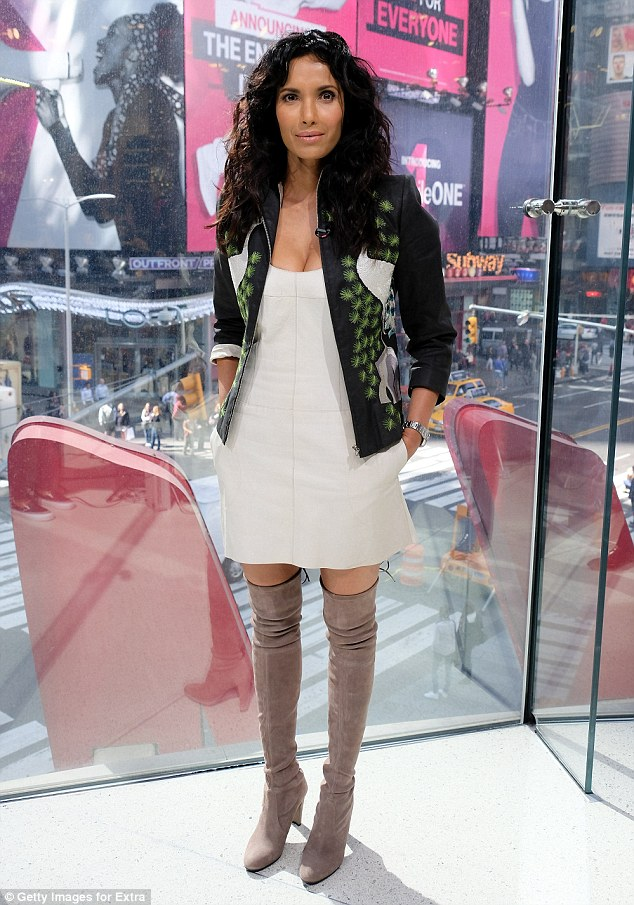Spice is nice: Padma Lakshmi heated things up nicely with her unique outfit as she visited Extra in NYC on Wednesday to promote her new book on spices