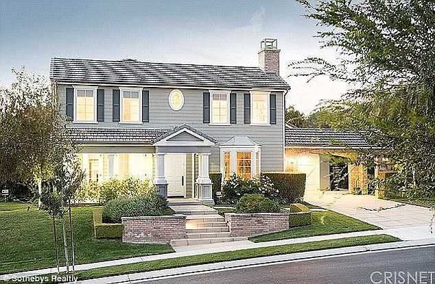 His nest: Rob lives in this traditional home in Calabasas that his mother bought for him