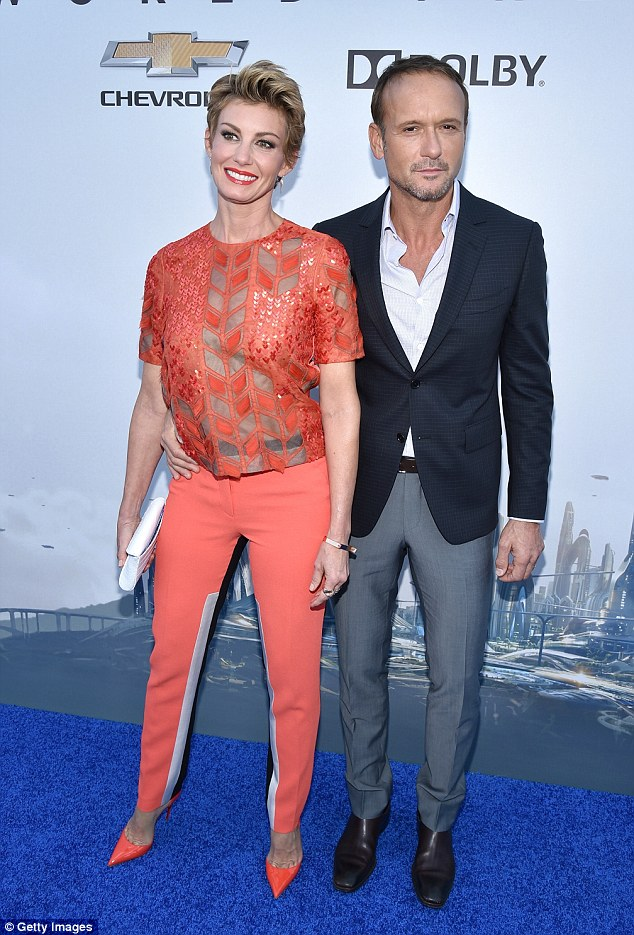 Heading to TV:The Voice is adding country couple Tim McGraw and Faith Hill - who are both 49-years-old - as key advisers on season 11; here they are seen in 2015