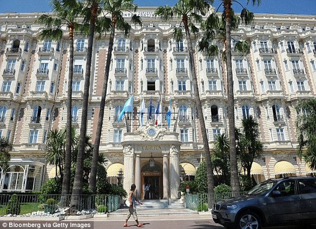 The Panthers pulled off their most notorious heist at the same Cannes hotel - the Carlton Intercontinental (pictured) - that featured in the Alfred Hitchcock film, 'To Catch a Thief'