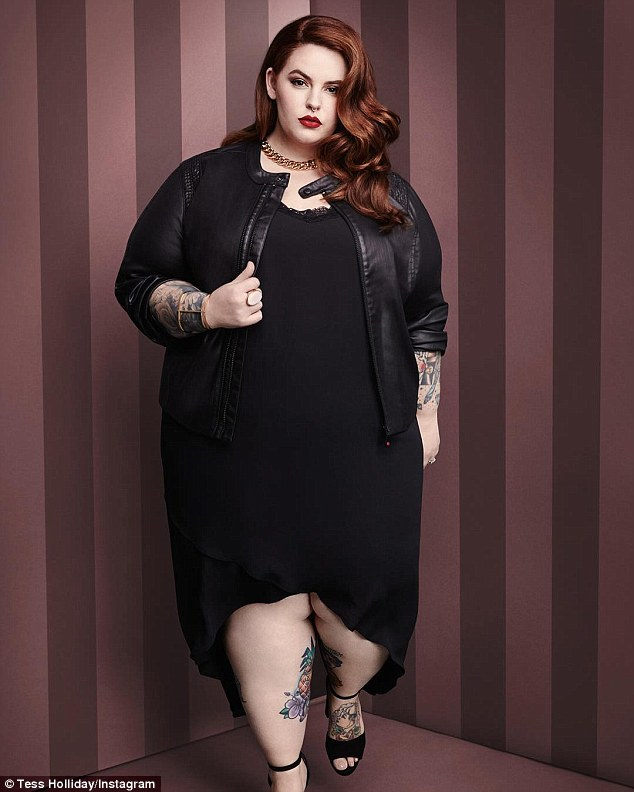 Role model: Tess is a vocal advocate for body positivity and often shares messages about the treatment of plus-size women on her Instagram page