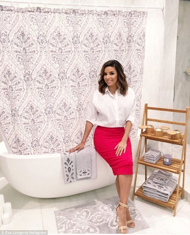 Business lady: The actress has a bed and bath collection for JC Penney