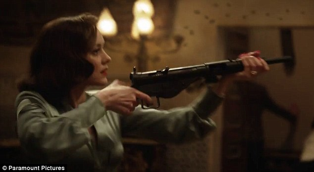 Cotillard also has a weapon and knows how to use it