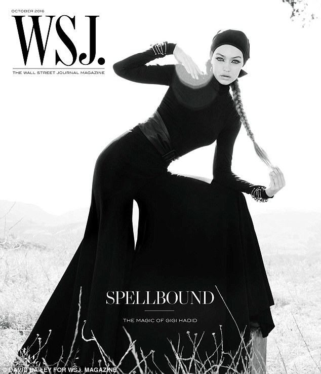 Gigi Hadid posed on the cover of the Wall Street Journal Magazine featuring Ronnie