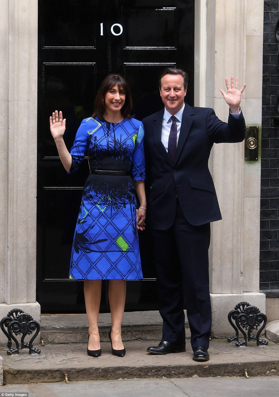 The former prime minister is understood to have bought the Fiat for his wife Samantha as a birthday present, the couple are pictured here outside Number 10 Downing Street. In Mat 2016 it was also reported that Mr Cameron has bought a £1,500 used Nissan Micra as a 'cheap run-around' for his wife