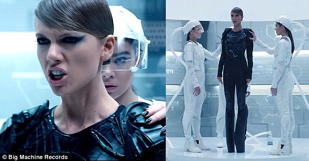 'It was so much fun and so cool to be a part of!' Last year, Hailee played The Trinity suiting Swift up in her star-studded, action-packed, Grammy-winning Bad Blood music video