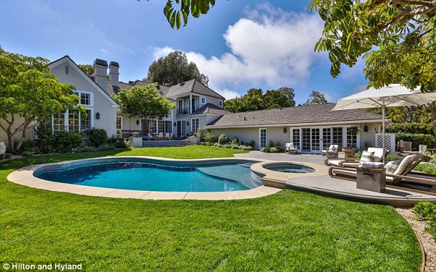 Not bad: Jillian has made a profit on her Pacific Palisades mansion in just a year