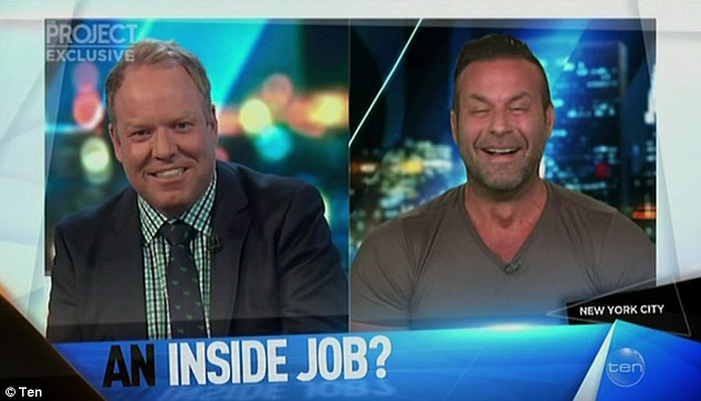 'They'll never stop posting, that will never change': When the show's co-host Peter Helliar (left) quizzed the brawny bodyguard on whether the Kardashian family will ever stop flaunting their wealth to social media, he did not hold back