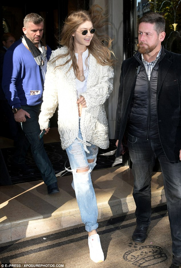 Stepping out:Gigi has been making a global impact alongside her sister Bella as they have stormed the runways for the fashion world's hottest designers
