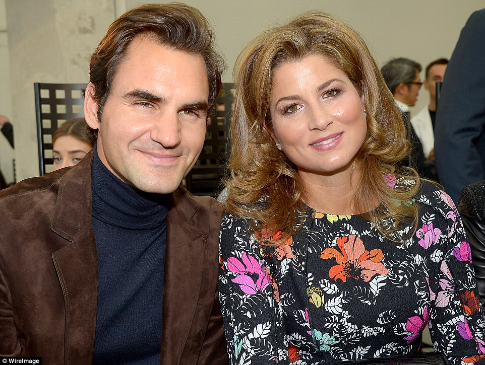 Tennis ace: Roger Federer and his wife Miroslava 'Mirka' Vavrinec Federer also attended the show
