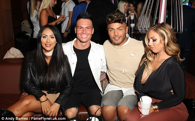 Geordie Four! The cast looked like they were happy to be in each other's company as they chatted inside the glamorous DSTRKT party