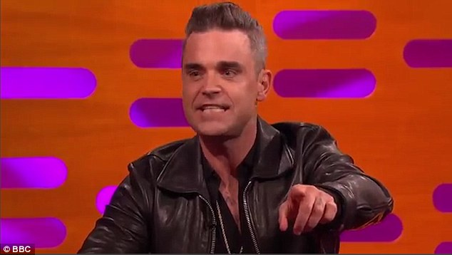Revelation: The former Take That star, 42, was promoting new single Party like a Russian during Friday's episode of the BBC chat show, but left his fellow guests stunned when asked to recall the 'maddest thing' he had been given by a fan