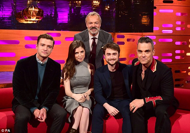 Emotional: Anna Kendrick, 31, revealed on The Graham Norton Show how she's been left upset by the turmoil surrounding The Great British Bake Off