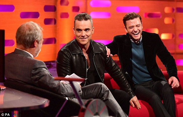 Loving life: Robbie gushed at how lucky he felt to still be relevant ahead of the release of his 11th album