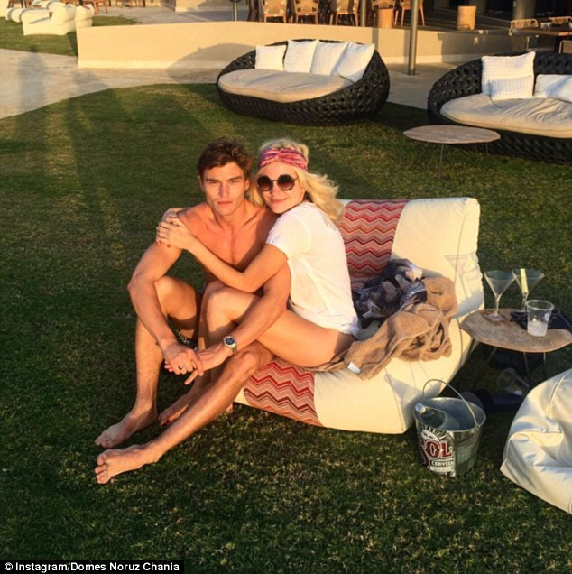 Genetically-blessed couple: Pixie and Oliver are staying at the luxury five-star Domes Noruz Chania, Autograph Collection resort during their holiday in Crete