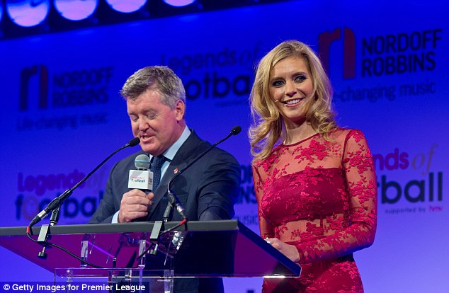 Hosts in action: Rachel was joined by Geoff Shreeves on the stage
