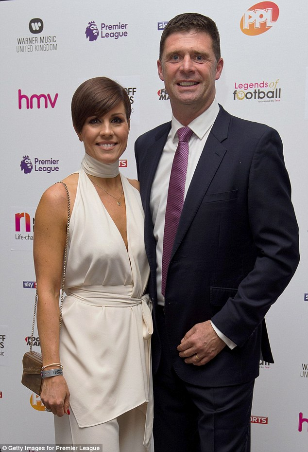 Putting in an appearance: Former footballer Niall Quinn and his wife Gillian were in attendance