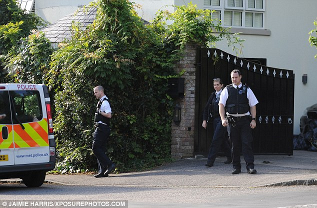 Luxury: The officers were seen at the property, which costs an eye-watering £13,500 a month to rent