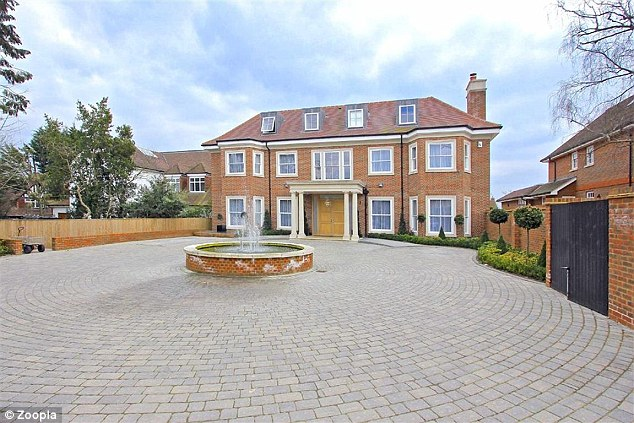 The old gaff: Last year's X Factor pad was another plush affair