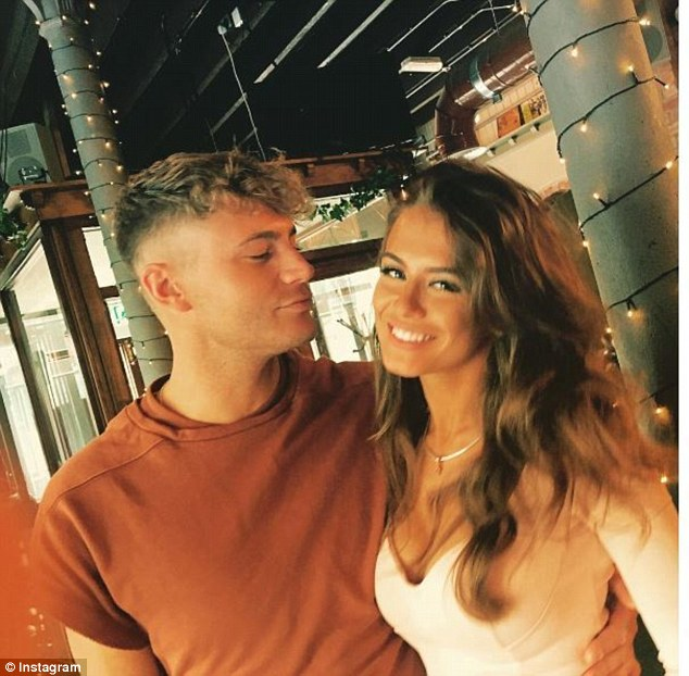 Oh no: Scotty only went public on Instagram with his girlfriend a matter of weeks ago, sharing a series of gushing snaps