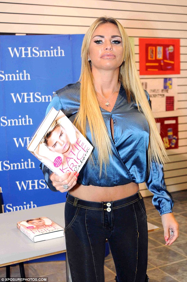 Busy lady: Katie is currently on her book  tour in Newcastle, promotingautobiography Reborn