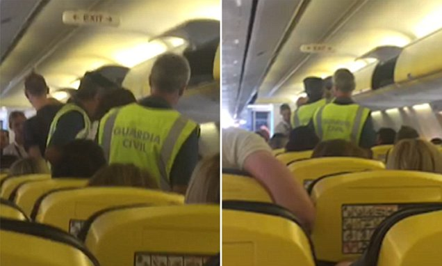 Mid-air brawl that saw a ten-year-old child hit with a wine bottle during flight to