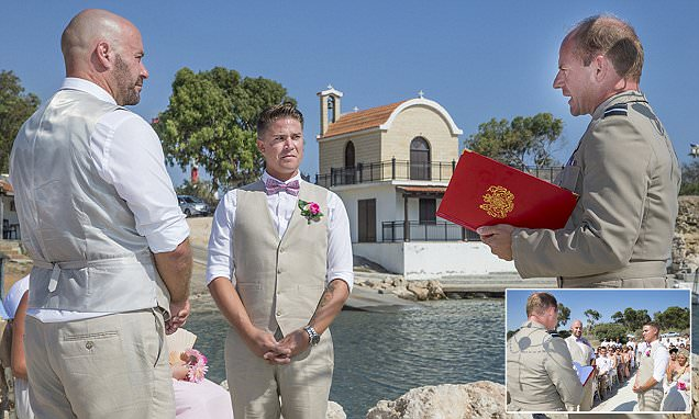 First for the Army as soldier weds his groom on base in Cyprus