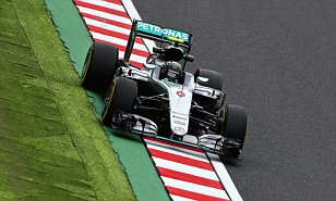 Nico Rosberg edges out Mercedes title rival Lewis Hamilton in second practice session