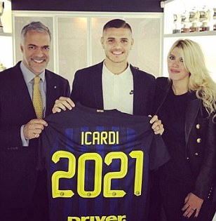 Mauro Icardi pens new Inter Milan deal with £99m buy out clause following  interest
