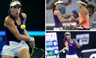 Johanna Konta wins 12 games in a row to claim China Open quarter-final win