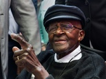 South Africa's retired Anglican archbishop and anti-apartheid icon Desmond Tutu attends a tea party to mark his 85th birthday on October 7, 2016 in Cape Town ©Rodger Bosch (AFP)