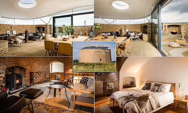 Tower built to protect Britain during Napoleonic Wars is transformed into holiday home