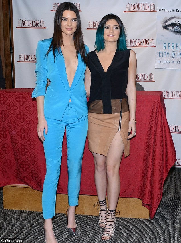 Follow-up novel: Kendall and Kylie, shown in June 2014 in New Jersey, have followed up their debut novel with Time of the Twins: The Story of Lex and Livia due out in November
