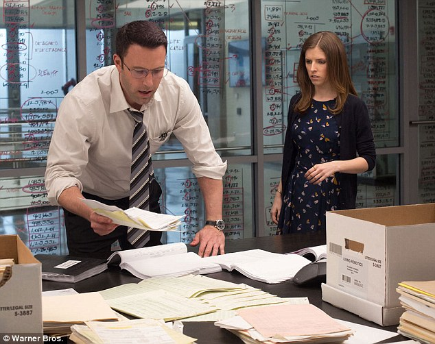 Playing it by the numbers: Anna portrays the assistant to Ben Affleck's crooked accountant in the new movie, due out on October 14