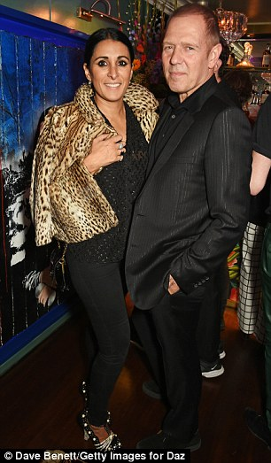 ... andSerena Rees and The Clash bassist Paul Simonon rubbed shoulders at the party on Thursday evening