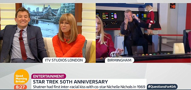 Awkward moments: Ben Shepherd and Kate Garraway were left trying to salvage a very uncomfortable chat