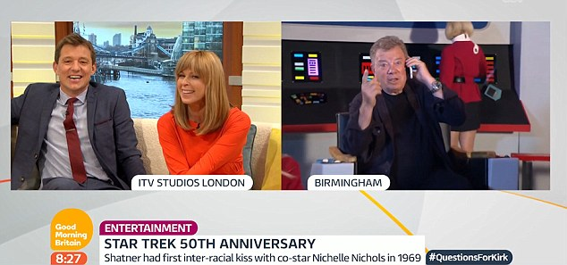 'That is a bizarre question': Ben and Kate asked the actor about his favourite Star Trek episode