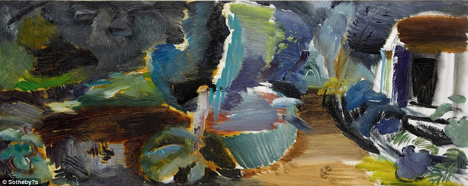 Ivon Hitchens' painted The Boathouse No.3 above, in 1948, shortly after moving to Sussex when his London home and studio were bombed in 1940. He said his paintings were to be listened to, like music. This piece should fetch between £60,000 and £80,000