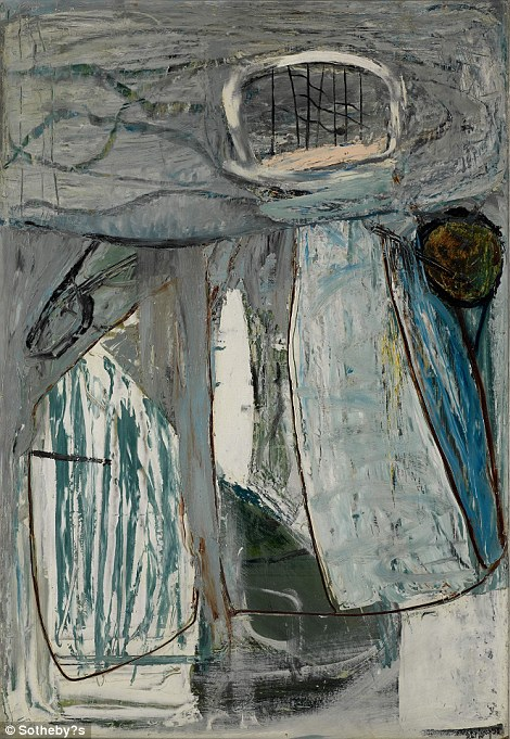 Bowie's love of pieces from the Cornish coast continued with this Peter Lanyon work called Inshore Fishing, from 1953, thought to be worth between £60,000 and £80,000. This is one of three works the singer loaned to Tate St Ives