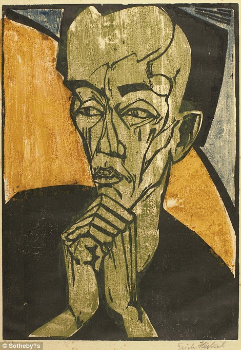 German expressionist piece by Erich Heckel, worth £30,000-£50,000, and one of 11 prints by the artist from Bowie's collection