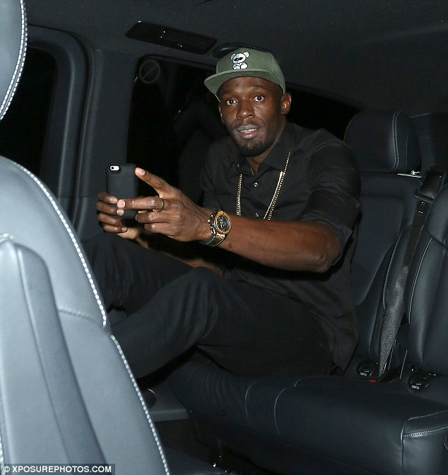 Usain Bolt was spotted leaving the Toy Room nightclub in London in the early hours of Friday morning