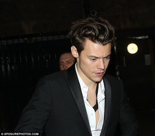 Harry had been hosting a Dior Party in Old Brompton Road before heading to the nightclub