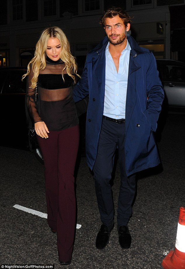 Here she comes: Tallia Storm attended the event with a male friend
