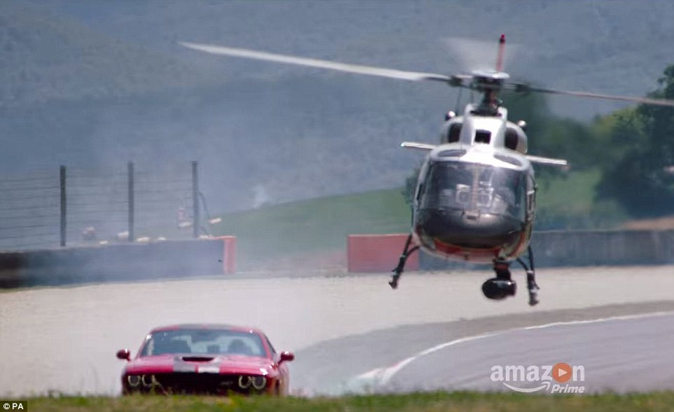 The upcoming series is set to feature dramatic and thrilling scenes including a high-speed helicopter chase (pictured)
