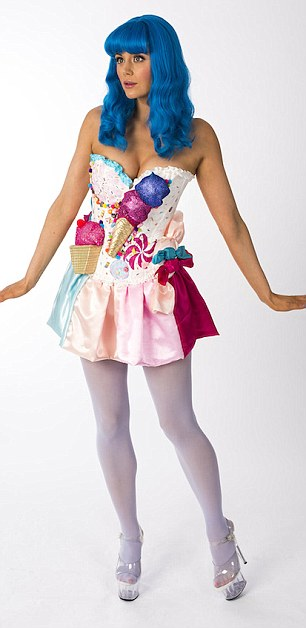 Ooh Li-la: Lilah Parsons dressed as Katy Perry for the cause