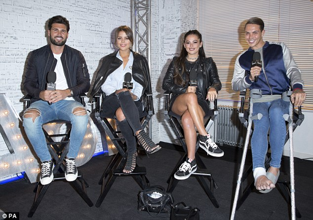 Reality star pals: Chloe was joined by her ITVBe co-stars (L-R) Dan Edgar, Chloe Lewis, Courtney Green and Bobby Norris
