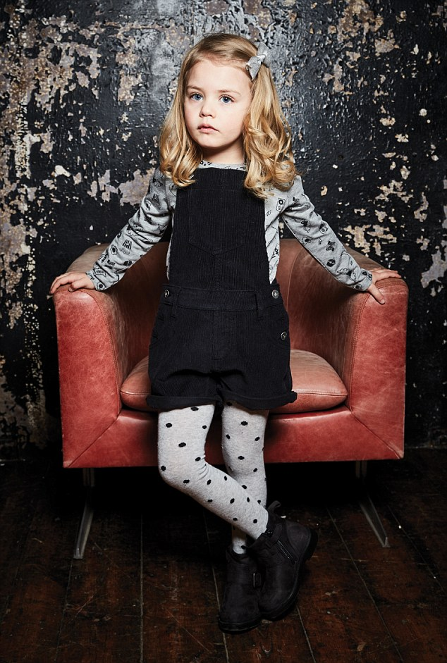 Speaking about the inspiration behind the collection, she said: 'As, like I suspect a lot of mums, I often find it hard to get clothes for my kids that are practical, but also fun and comfy'