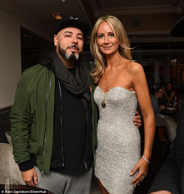 The birthday girl posed with with Roger Sanchez